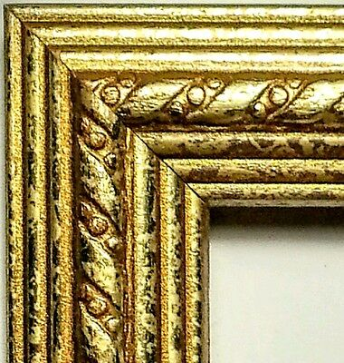 100 ft - Gold FOIL Picture Frame Moulding, Ribbon, Crown Profile   FREE SHIPPING