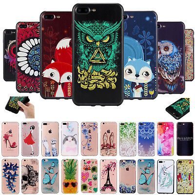 New Rubber Soft TPU Silicone Phone Case Cover Fr Apple iPhone 7 7 Plus 6 6s Plus