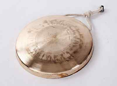 """Chinese middle pitch small hand forging copper gong with Mallet mediant 8"""""""