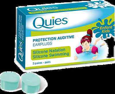 Quies Silicone Earplugs for Swimmers – 3 Pairs - Kids