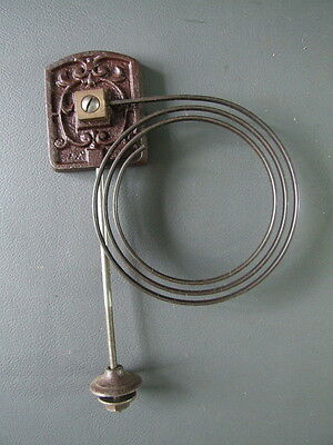 Vintage clock chime gong with metal coil and fixing bolt spares parts • EUR 10,94