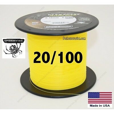 20/100 Tresse Spiderwire Ultracast Fluoro Braid