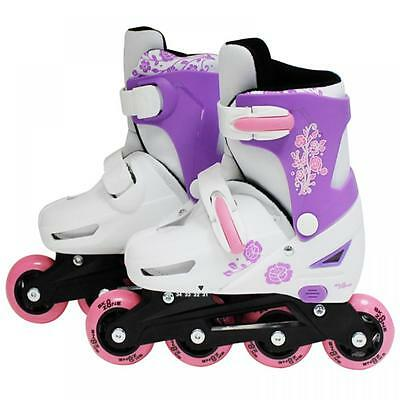 SK8 Zone Girls Pink Roller Blades Inline Skates Adjustable Size Pro Skating New