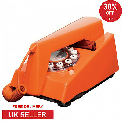 Wild & Wolf Trim Retro 1970's Phone - Orange