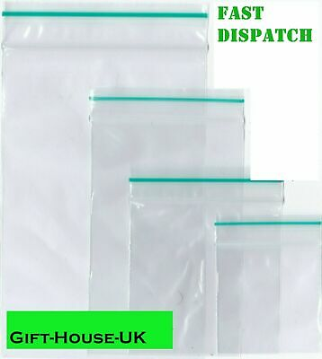 40 x 40 Small Clear Bags Plastic Baggy Grip Self Seal Resealable Zip Lock