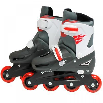 SK8 Zone Boys Red Roller Blades Inline Skates Adjustable Size Pro Skating New
