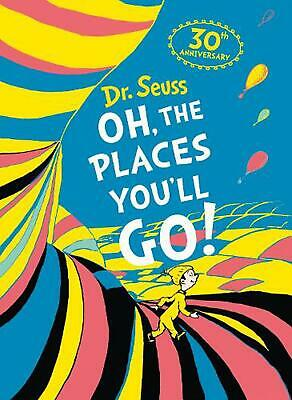 Oh, the Places You'll Go by Dr. Seuss (English) Hardcover Book Free Shipping!