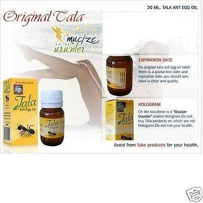 20x TALA ANT EGG OIL 20ml 0.7oz NATURAL ORGANIC HAIR REMOVAL,REDUCTION,ERADICATE