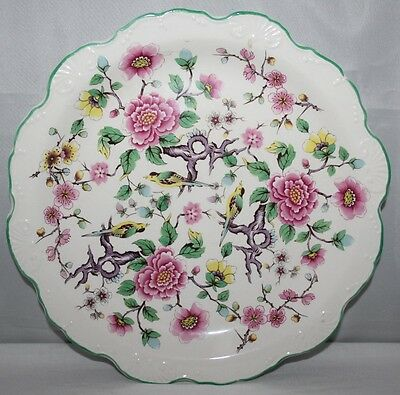 "James Kent Old Foley - Chinese Rose - 8 3/4"" Scalloped Plate - 1950's Chintz"