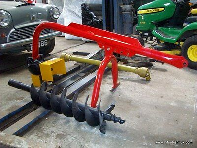 "Post Borer Auger 9"" Bore & Pto Shaft"