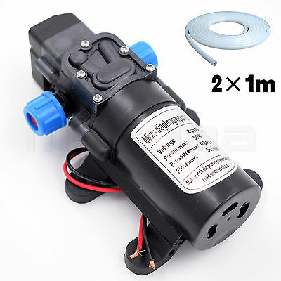 High Pressure Diaphragm Water Pump With Hose Camping Automatic Switch 12v DC 60W