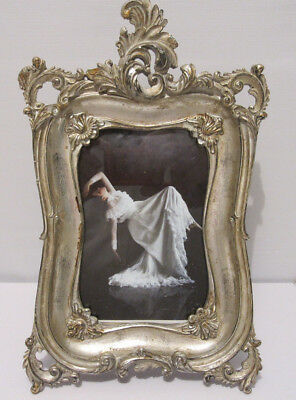 Silver Leaf Victorian Antique Vintage French Style 4X6 Picture Photo Frame New
