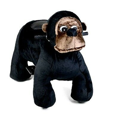 Coin Operated Electric Chimp Animal Scooter, Plush Mall Ride On Toy