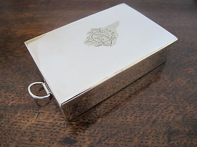 Antique James Dixon Silver Plated Hinged Sandwich Box/tin - Hunting/fishing Etc