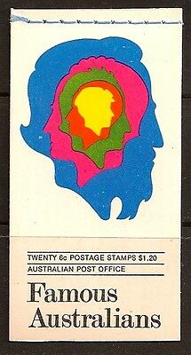 AUSTRALIA 1970 BOOKLET FAMOUSE PEOPLE SC # 454a-57a MNH