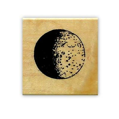 Dark Side of MOON mounted rubber stamp, lunar, astronomy, space, full moon #15