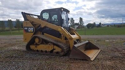 Caterpillar 289D Compact Track Loader 2 Speed Quick Coupler Cat Bucket Diesel
