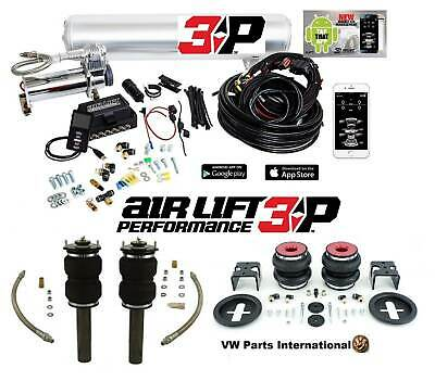 "VW Scirocco MK3 GT GTS R Air Lift 3P 1/4"" Management + Front Rear Slam Kit Bags"