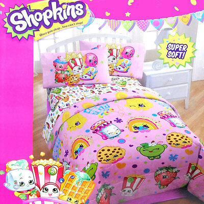 SHOPKINS SUPER SOFT BEDDING TWIN COMFORTER Cobertor Colcha NEW