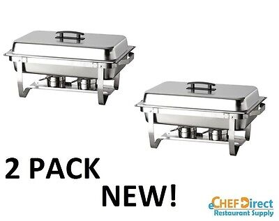 (2PACK ) Stainless Full Size Folding Chafing  Dish Sets Chafer Warmer Catering
