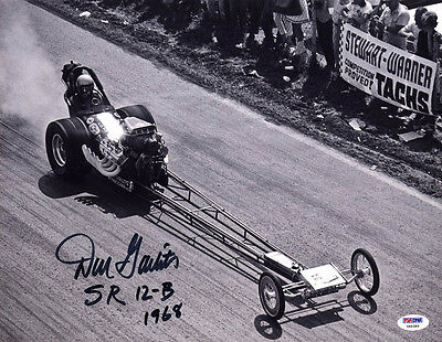 Don Garlits SIGNED 11x14 Photo Big Daddy Swamp Rat 1968 PSA/DNA NHRA AUTOGRAPHED