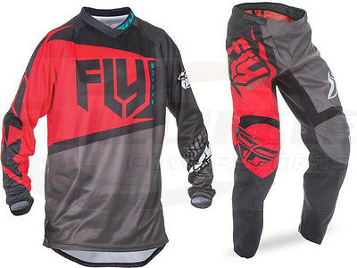 Fly Racing Red F-16 Jersey & Pant Combo Set MX/ATV/BMX/MTB 2017 Riding Gear