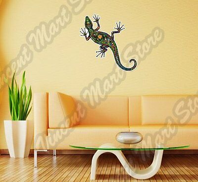"Cheerful Lizard Abstract Ornament Colorful Wall Sticker Interior Decor 25""X16"""