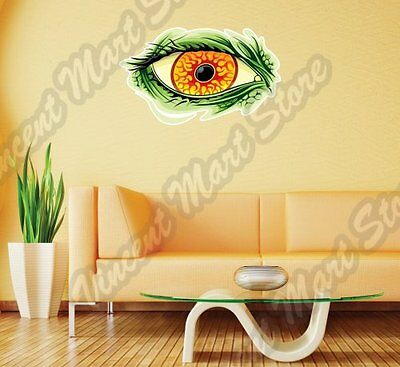 "Monster Lizard Dragon Angry Eye Cartoon Wall Sticker Interior Decor 25""X18"""