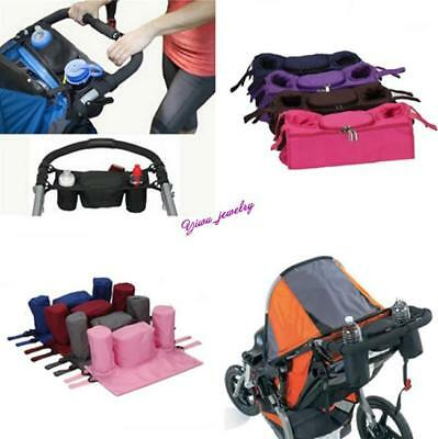 Kid Baby Stroller Safe console Tray pram hanging bag/bottle cup holder 9Color YZ
