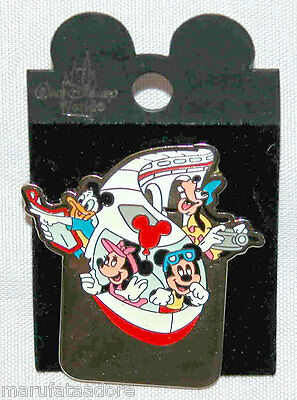 Disney Park Exclusive Collectors Trading Pin - Mickey Mouse & Gang On Monorail