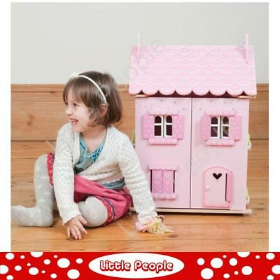 LE TOY VAN Pink Wooden DollLE TOY VAN pink doll house My First Dream House