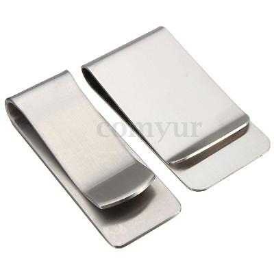 Stainless Steel Simple Style Pocket Wallet Credit ID Card Money Clip Holder UK