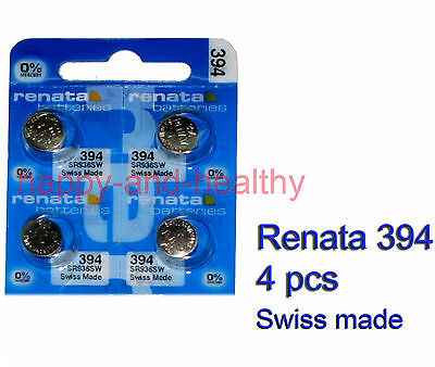 Authentic Renata SR936SW 394 Silver Oxide Battery x4 pcs SWISS made FREE post