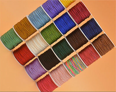Jade line 0.5/1.0mm Rattail Macrame Nylon Chinese Knot Cord Thread String jewelr