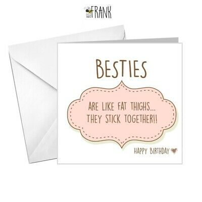 Funny, cute, sarcastic, banter, Birthday Card. Best Friend / Bestie BC002