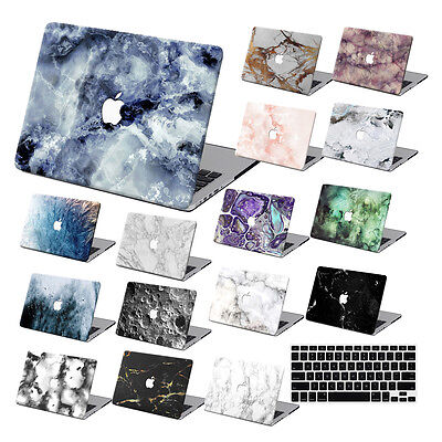 """Hard Rubberized Marble Painting Case For Macbook Pro Air 11 13""""15"""" Retina 12 +KB"""