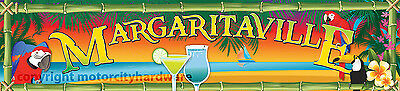 "Margaritaville Garage Game Room Bar Tiki Hut Banner 32"" X 140"" Large Size"