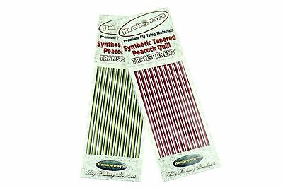 Hemingways Synthetic Tapered Peacock Quill TRANSPARENT / fly tying materials