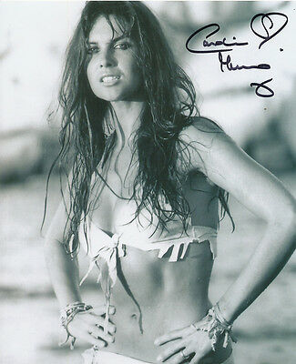 Caroline Munro In Person Signed Photo - A573 - STUNNING!!!!!