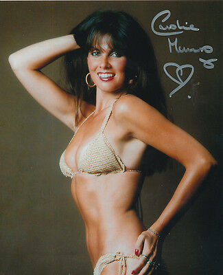 Caroline Munro In Person Signed Photo - A587 - GORGEOUS!!!!!