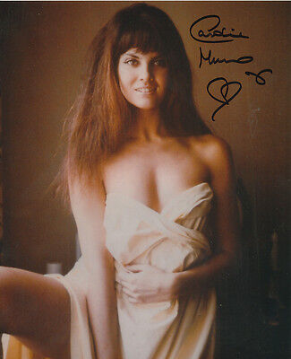 Caroline Munro In Person Signed Photo - A595 - STUNNING!!!!!