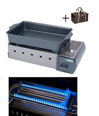 Portable Butane Grill Outdoor Barbecue BBQ Grills Camping Stove Cooking with Bag
