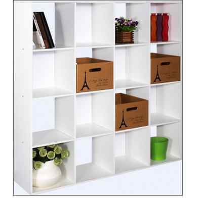 Household & Office 4x4 Wooden Cubicle Shelf Shelving Unit