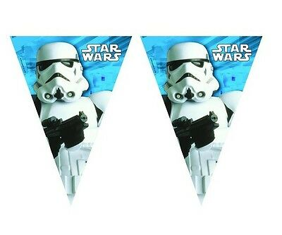 Star Wars Stormtrooper  Plastic Flag Pennant Banner  2.3 M Party Decoration