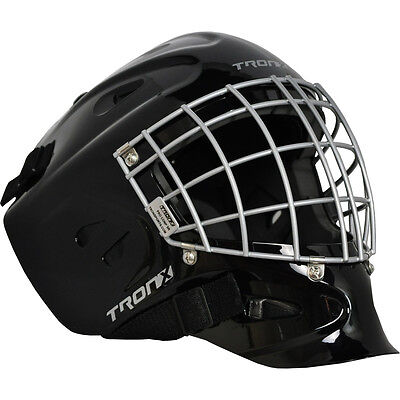 TronX Comp Hockey Senior Goalie Helmet - Black - Cat Eye Cage