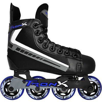 Adjustable Inline Roller Hockey Skates Boys Girls Kids Junior Youth Derby New