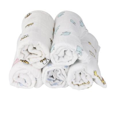 Soft Muslin Cotton Newborn Baby Swaddle Blanket Bath Towel Wrap Nursery Bedding