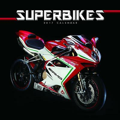 Superbikes 2017 Uk Square Wall Calendar New And Sealed