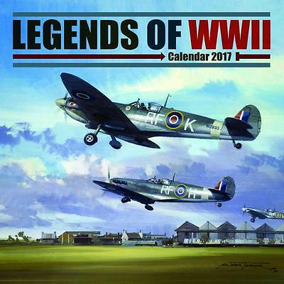 Legends Of World War Ii Two 2017 Uk Square Wall Calendar New And Sealed