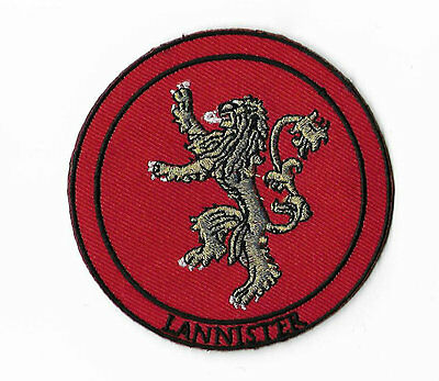 """House Lannister Patch 3"""" Emblem Embroidered Badge Game of Thrones Lion Insignia"""